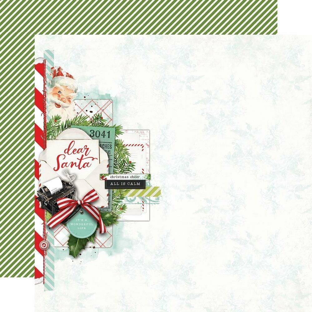 "Simple Vintage North Pole Double-Sided Cardstock 12""X12"" - Dear Santa"