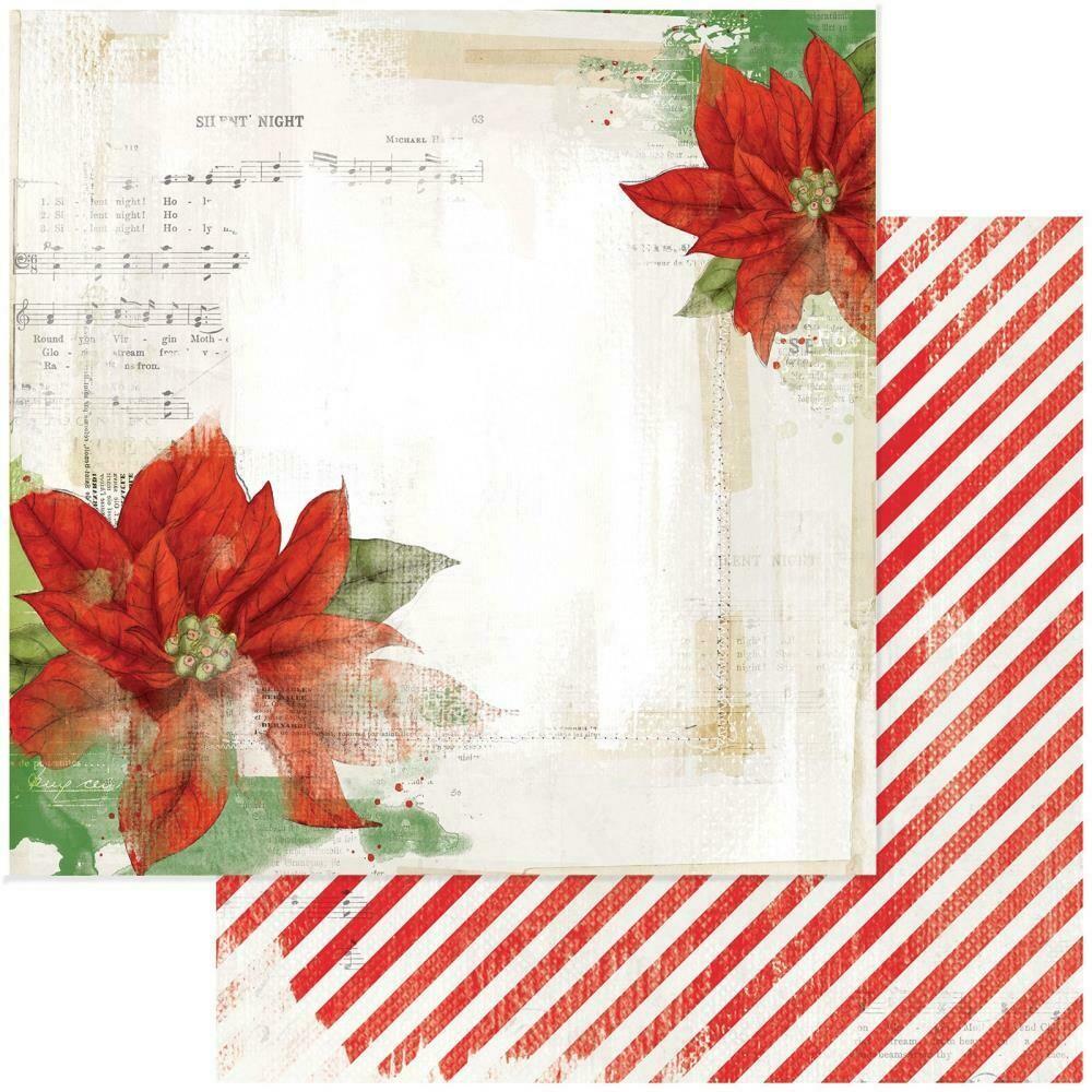 """Vintage Artistry Noel Double-Sided Cardstock 12""""X12"""" - Euphorbia Garden"""