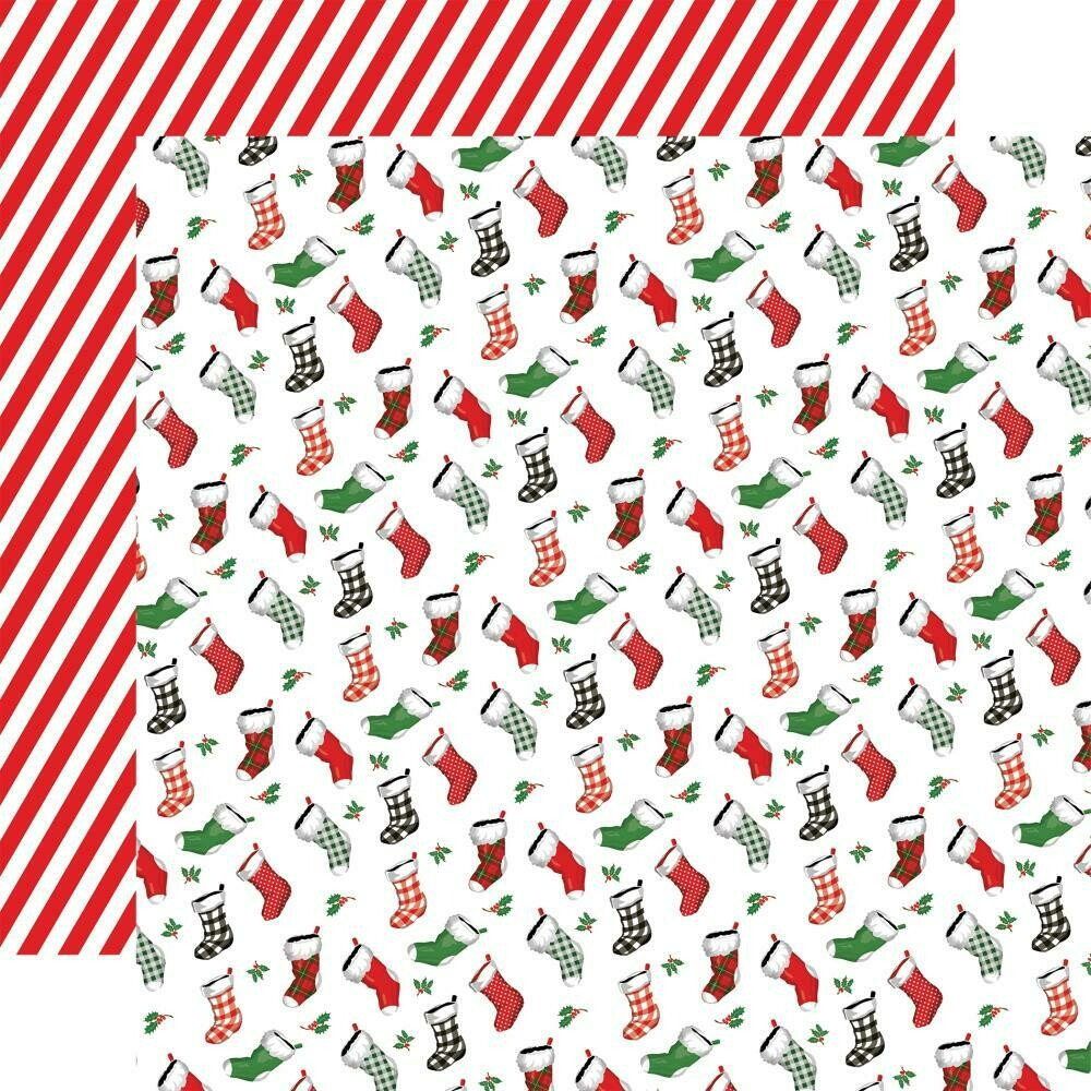 "Dear Santa Double-Sided Cardstock 12""X12"" - Stockings"