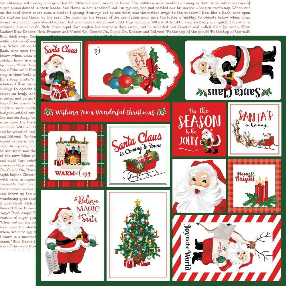 "Dear Santa Double-Sided Cardstock 12""X12"" - Multi Journaling Cards"