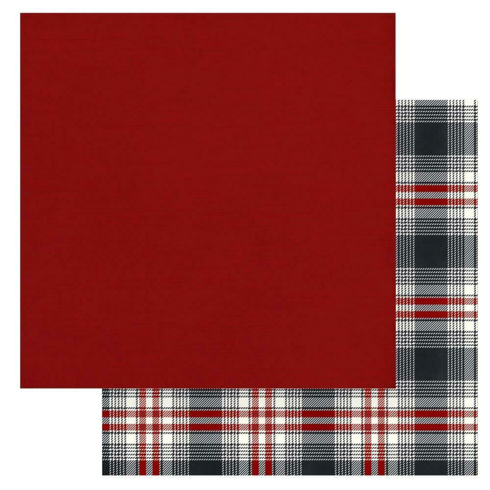 "Christmas Cheer Double-Sided Cardstock 12""X12"" - Red, Solids+"