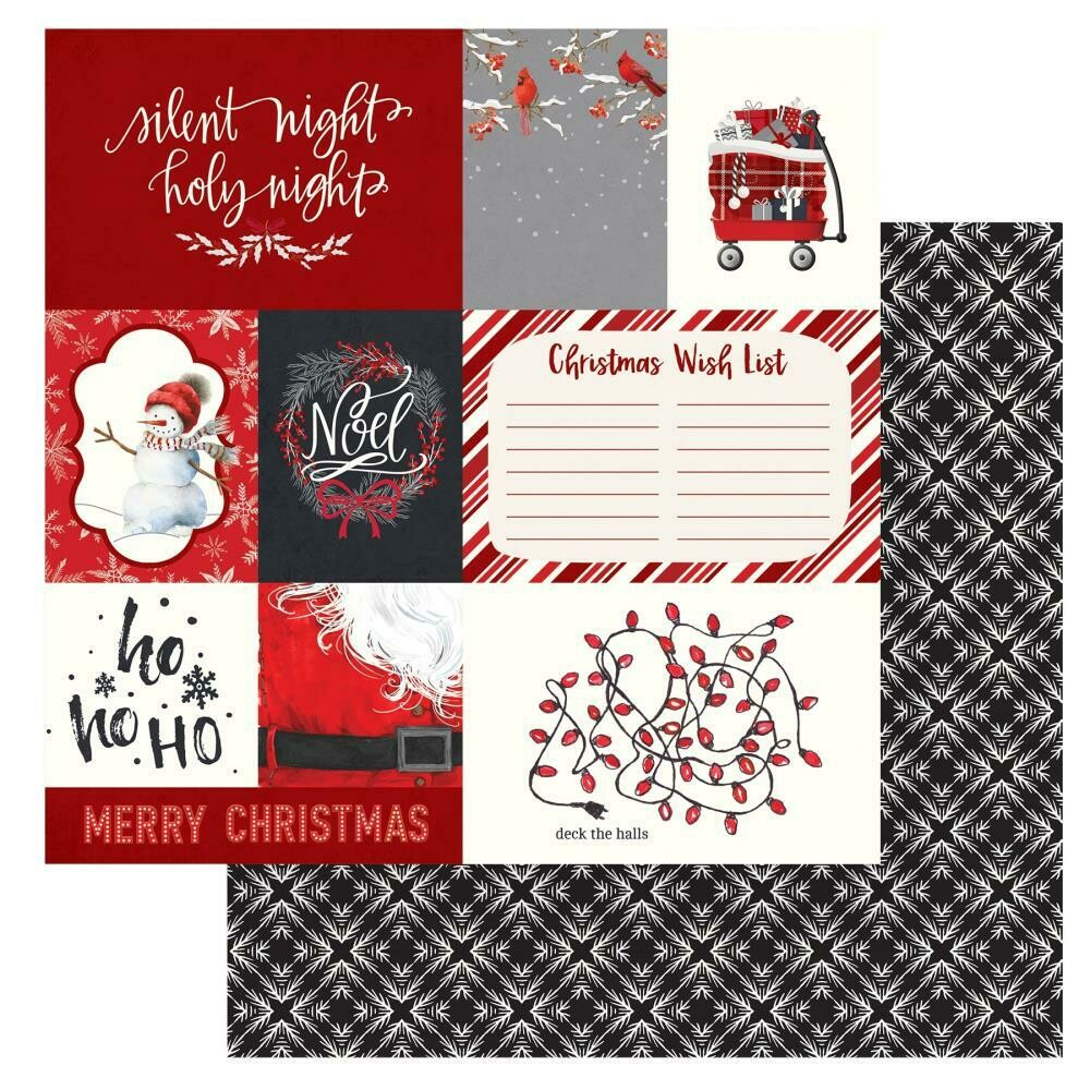 """Christmas Cheer Double-Sided Cardstock 12""""X12"""" - Deck the Halls"""