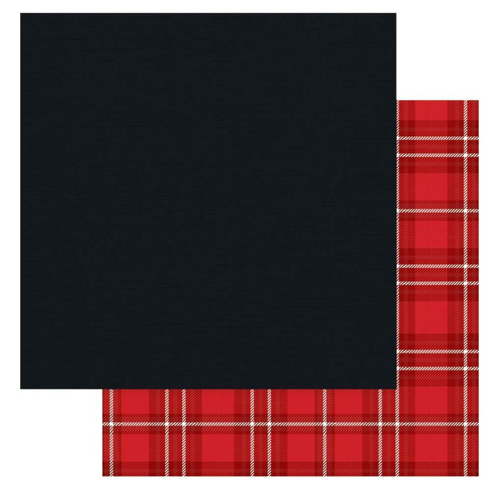 "Christmas Cheer Double-Sided Cardstock 12""X12"" - Black, Solids+"