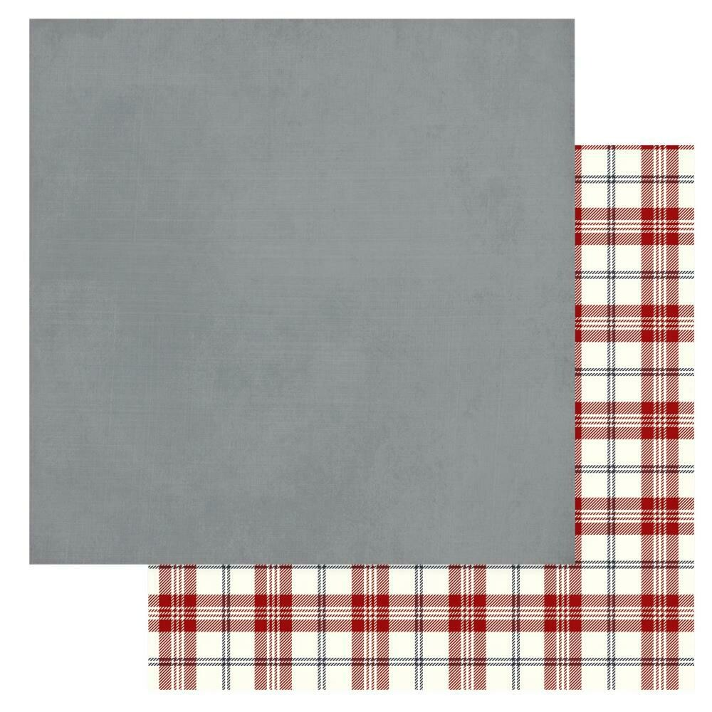 "Christmas Cheer Double-Sided Cardstock 12""X12"" - Grey, Solids+"
