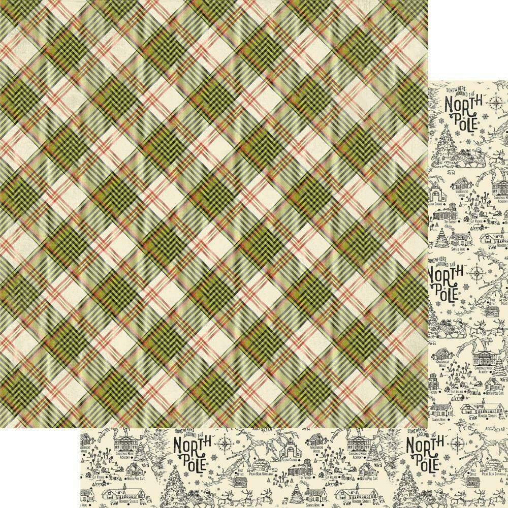 """A Magical Christmas Double-Sided Cardstock 12""""X12"""" - Diagonal Plaid"""
