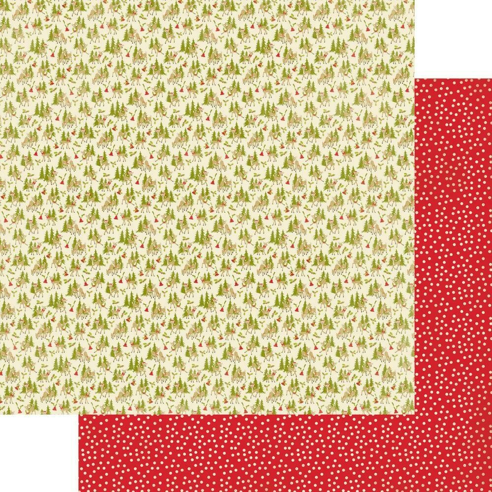 """A Magical Christmas Double-Sided Cardstock 12""""X12"""" - Reindeer & Trees"""