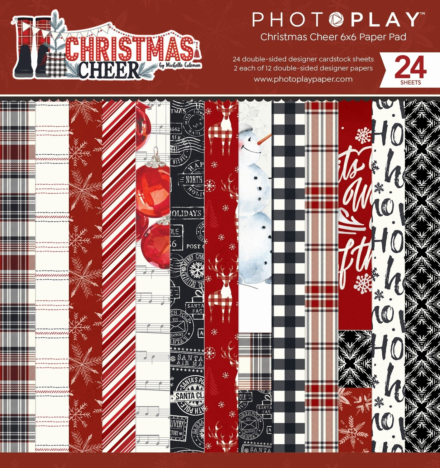"""Christmas Cheer - Double-Sided Paper Pad 6""""X6"""" 24/Pkg"""