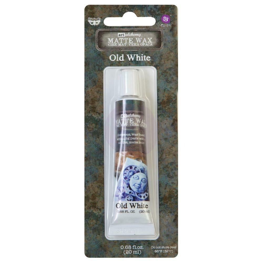 Finnabair Art Alchemy Matte Wax .68 Fluid Ounce - Old White