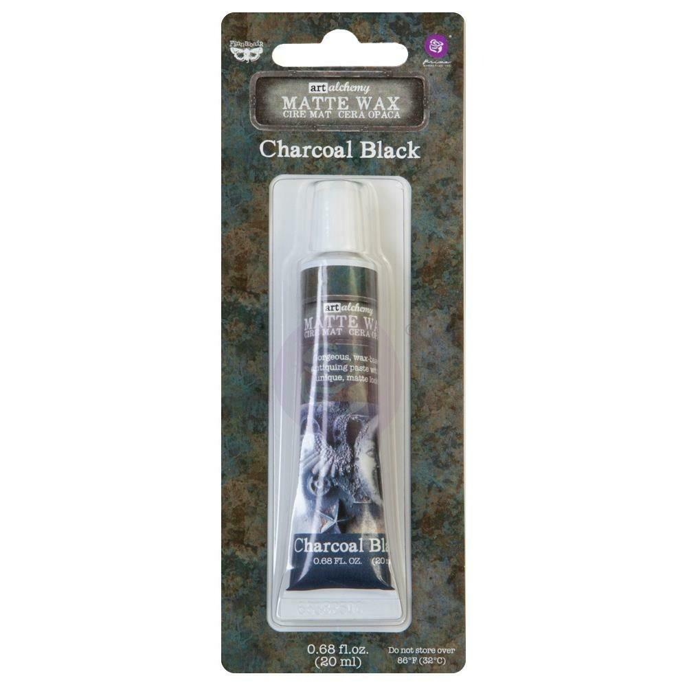 Finnabair Art Alchemy Matte Wax .68 Fluid Ounce - Charcoal Black
