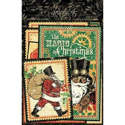 Graphic 45 Ephemera & Journaling Cards - Christmas Time