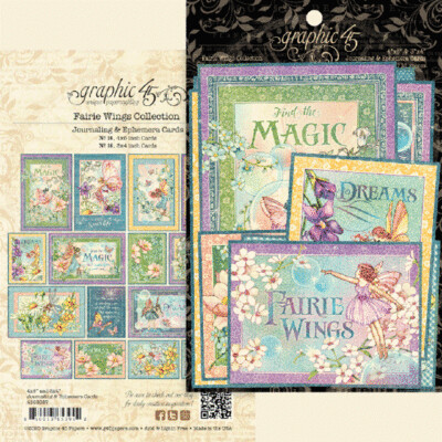 Graphic 45 Ephemera & Journaling Cards - Fairie Wings