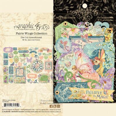 Graphic 45 Cardstock Die-Cut Assortment - Fairie Wings