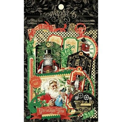 Graphic 45 Cardstock Die-Cut Assortment - Christmas Time