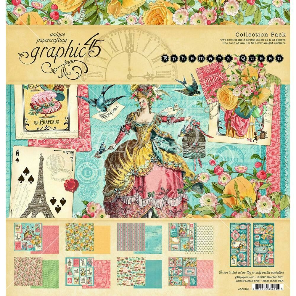 "Ephemera Queen - Graphic 45 Collection Pack 12""X12"""