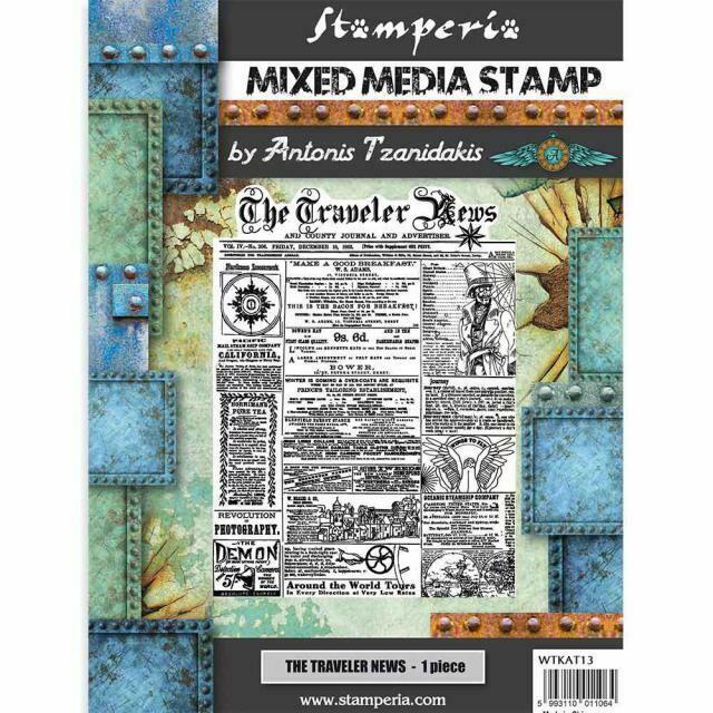The Traveler News Stamp Set - Sir Vagabond by Antonis Tzanidakis