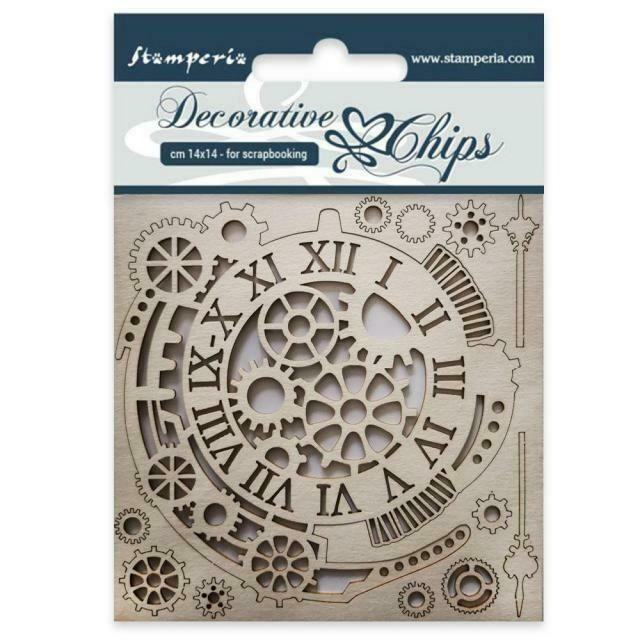 Stamperia Decorative Chips - Gears and Clocks