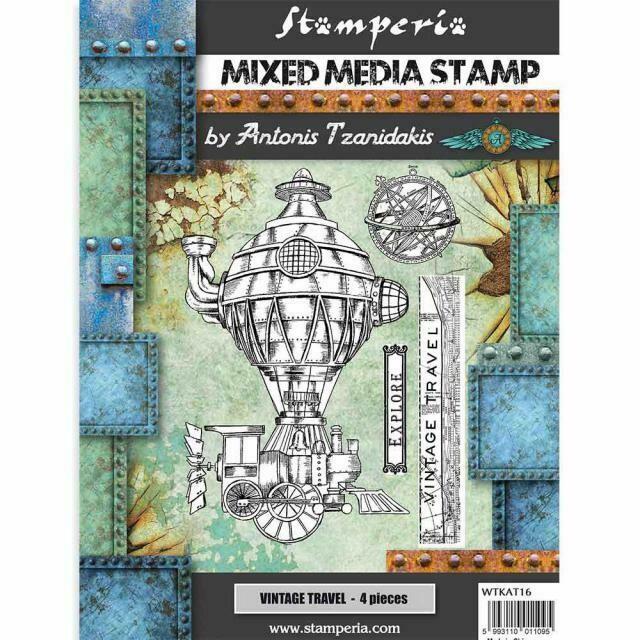 Stamperia - Sir Vagabond - Stamp Set Vintage Travel - by Antonis Tzanidakis