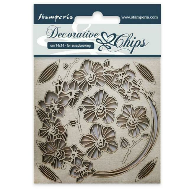 Stamperia Decorative Chips - Garland of Flowers