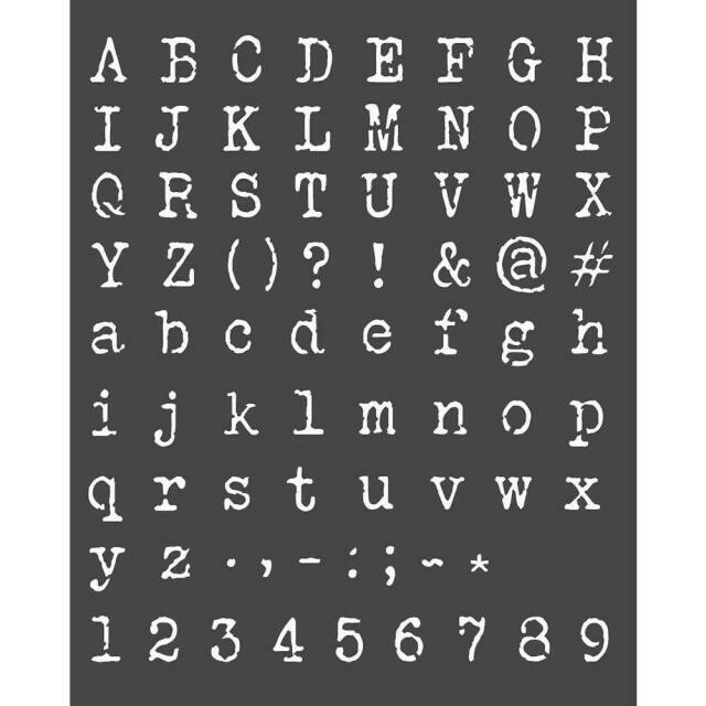 Stamperia Alphabet & Numbers - Thick Stencil 20x25cm