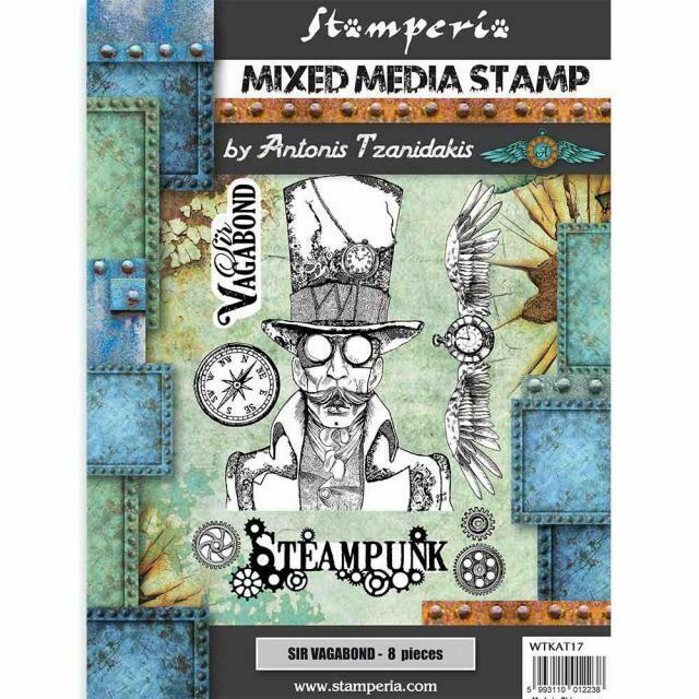 Steampunk Stamp Set - Sir Vagabond by Antonis Tzanidakis