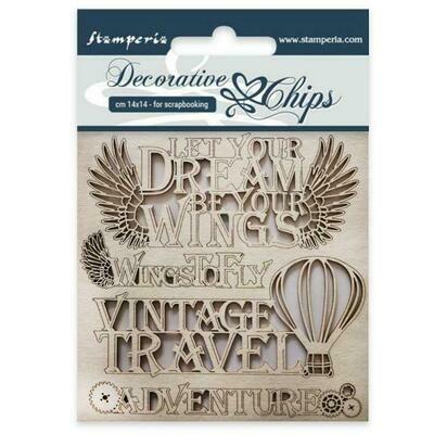 Stamperia Decorative Chips - Adventure