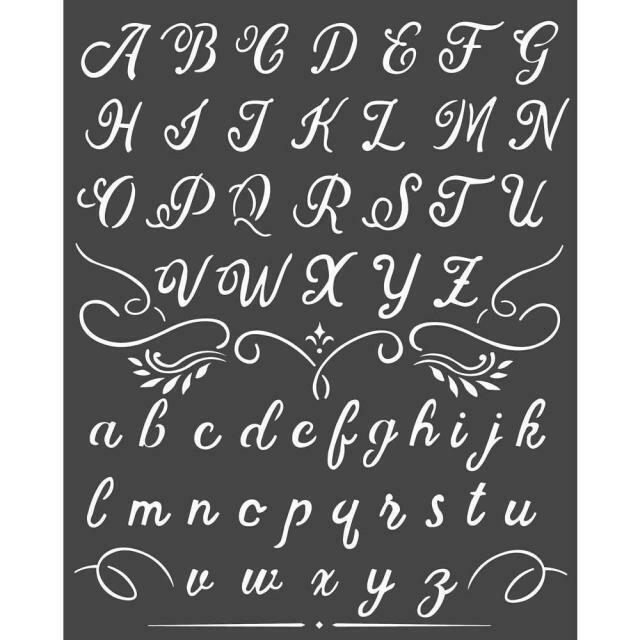 Stamperia Alphabet - Thick Stencil 20x25cm