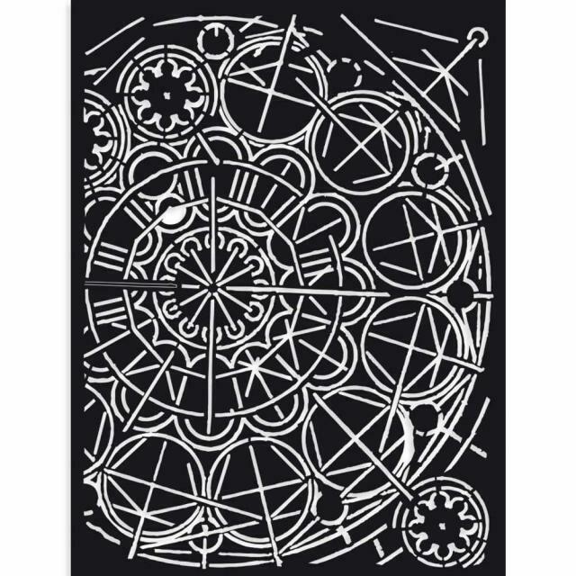 Stamperia Sir Vagabond Geometry - Stencil 15x20cm
