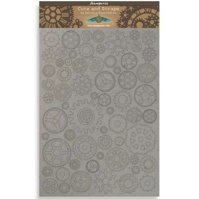 Stamperia Sir Vagabond Gears Small - Greyboard Cut-Outs