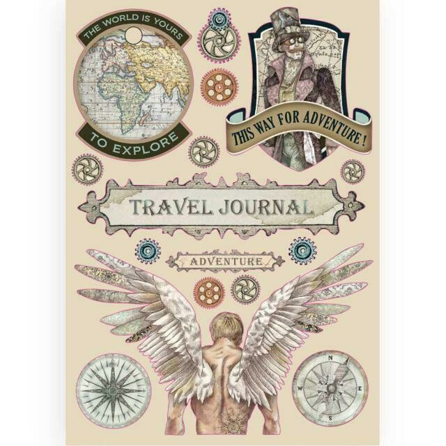 Stamperia Coloured Wooden Shapes A5 - Sir Vagabond Travel Journal