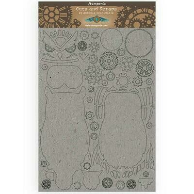 Stamperia Sir Vagabond Owl - Greyboard Cut-Outs