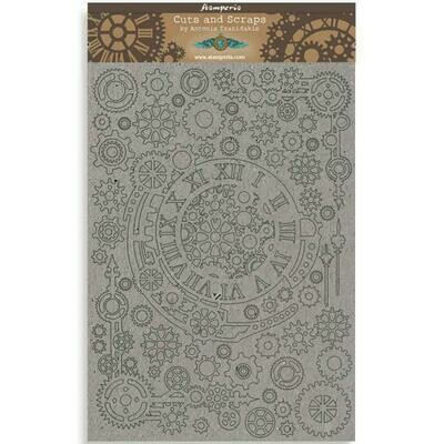 Stamperia Sir Vagabond Gears & Numbers - Greyboard Cut-Outs
