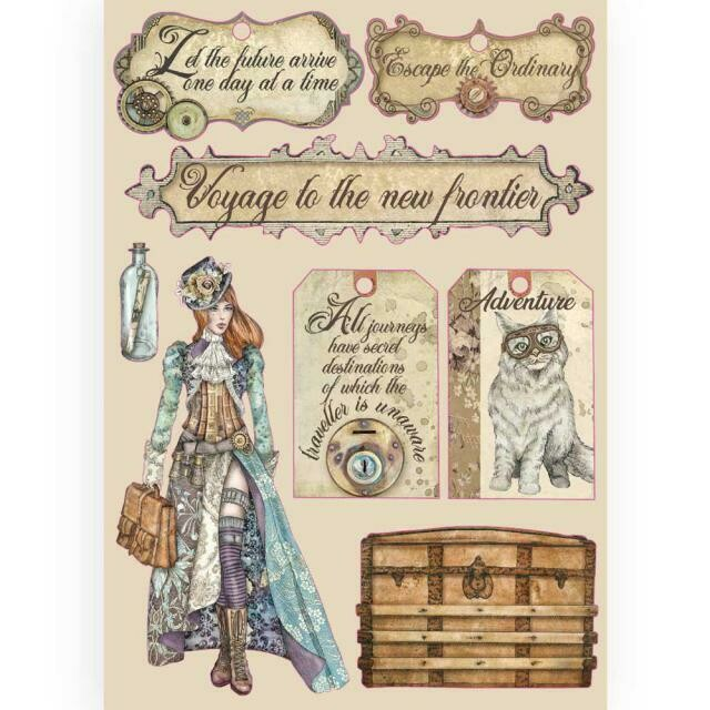 Stamperia Coloured Wooden Shapes A5 - Lady Vagabond Labels