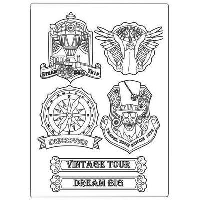 Stamperia Sir Vagabond Vintage Tour - A5 Silicone Mould