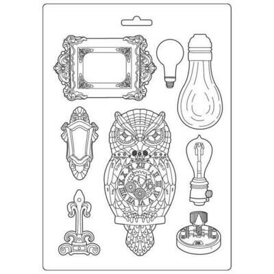 Stamperia Sir Vagabond Owl & Memories - A4 Soft Mould