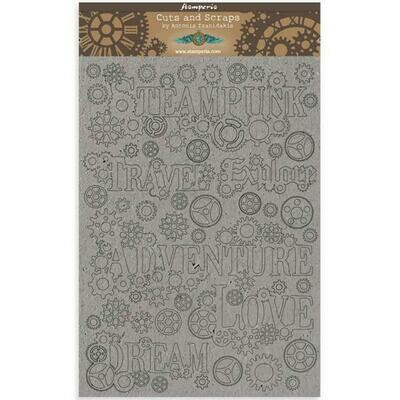 Stamperia Sir Vagabond Sentiments - Greyboard Cut-Outs