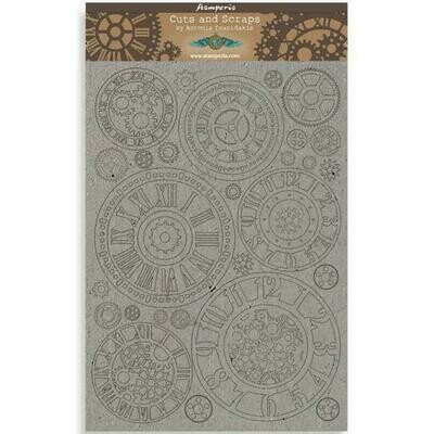 Stamperia Sir Vagabond Gears - Greyboard Cut-Outs