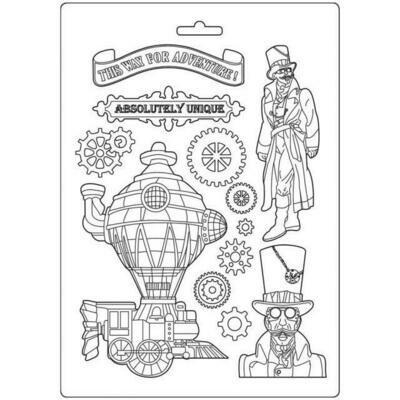 Stamperia Sir Vagabond Train - A4 Soft Mould