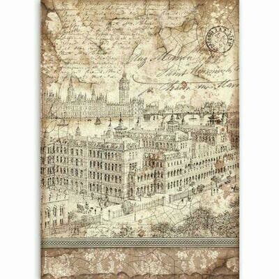 Stamperia A4 Rice Paper Sheet - Lady Vagabond London