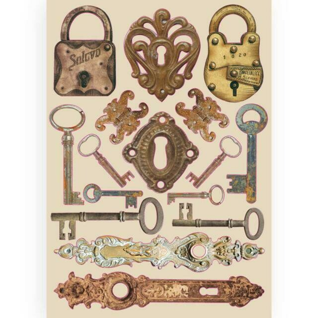 Stamperia Coloured Wooden Shapes A5 - Lady Vagabond Locks & Keys