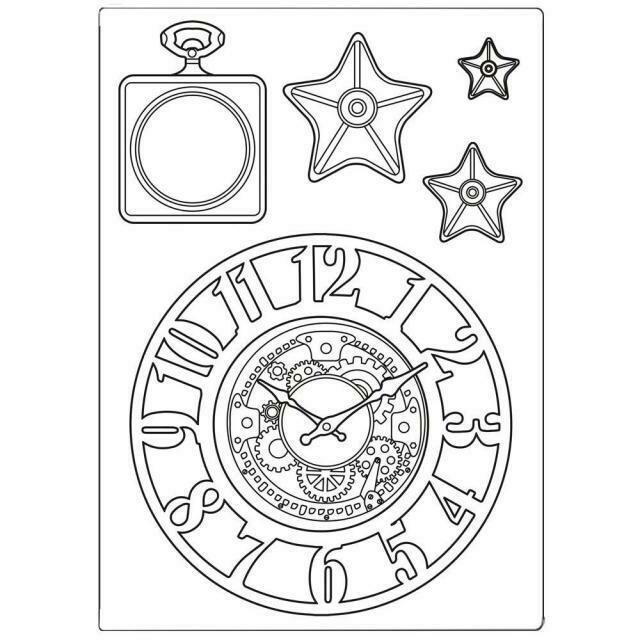 Stamperia Sir Vagabond Clocks & Stars - A5 Silicone Mould