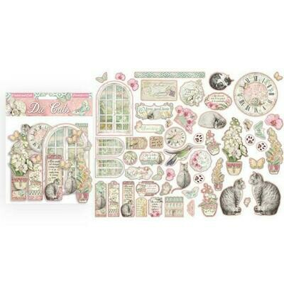 Stamperia Die Cuts - Orchid & Cats