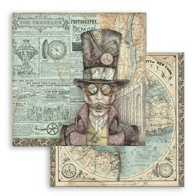 """Stamperia 12""""x12"""" Double-sided Paper - Sir Vagabond"""