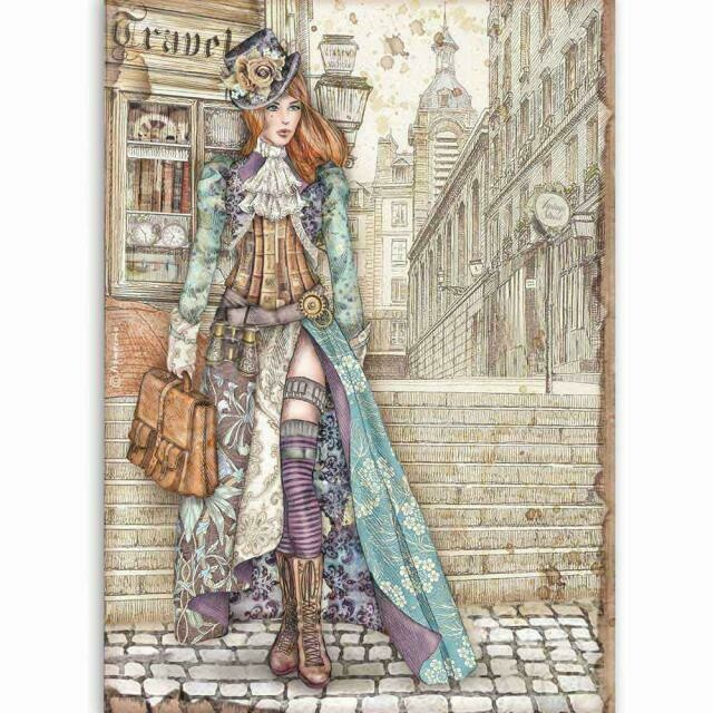 Stamperia A4 Rice Paper Sheet - Lady Vagabond