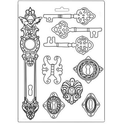 Stamperia Lady Vagabond Keys & Locks - A4 Soft Mould
