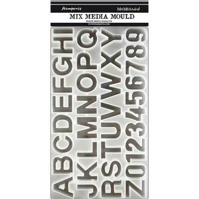 Stamperia Silicone Mould 19.3x35.2cm - Alphabet
