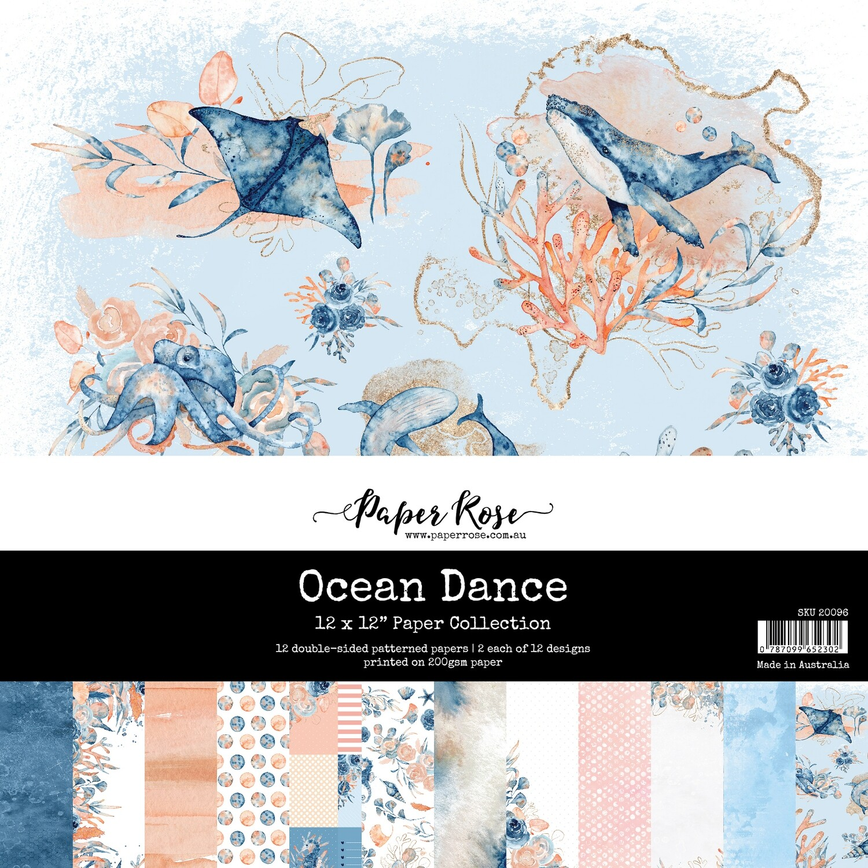 "Paper Rose - Ocean Dance 12"" x 12"" Paper Collection"