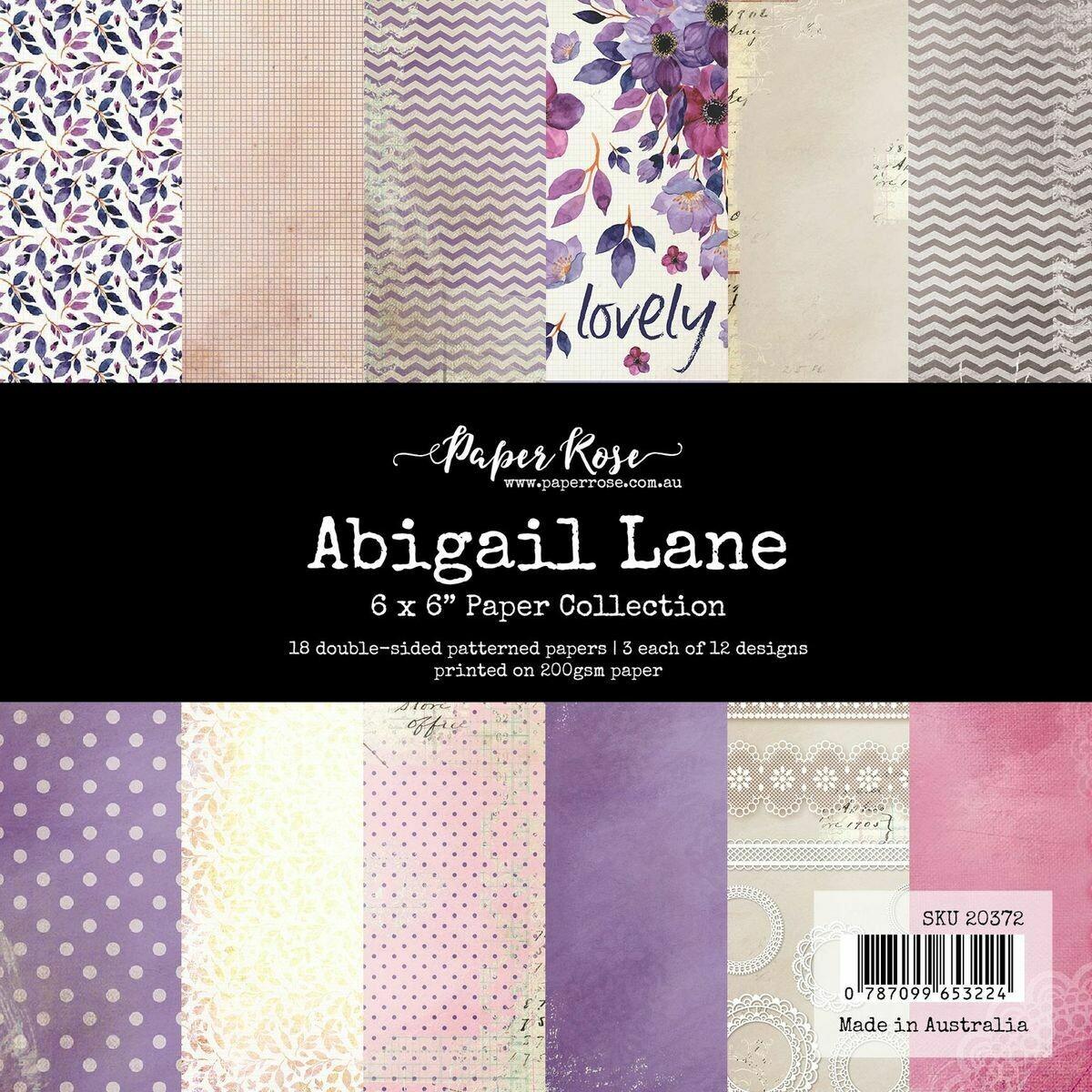 "Paper Rose - Abigail Lane -  6"" x 6"" Paper Collection"