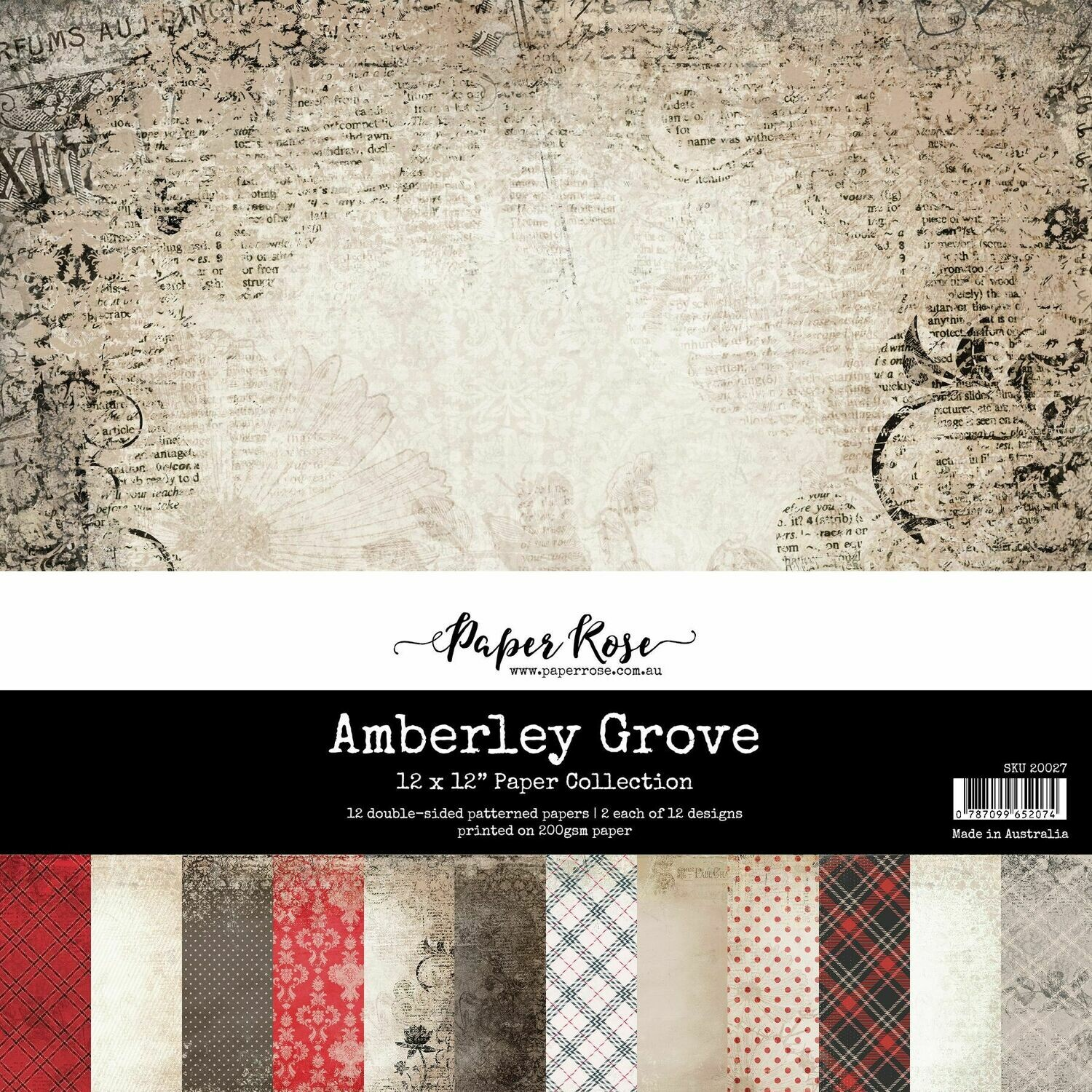 "Paper Rose - Amberley Grove 12"" x 12"" Paper Collection"