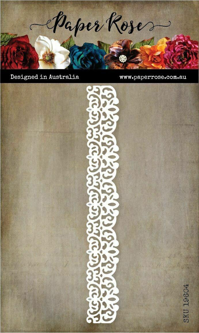 Paper Rose Metal Die - Lace Border