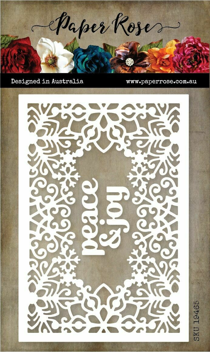 Paper Rose Metal Die - Snowflake Rectangle Frame